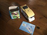 Playmobil camper van and accessories