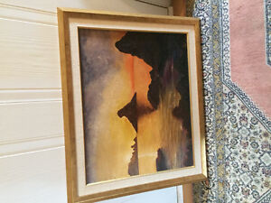 Active 20th century Egyptian landscape signed w.lory West Island Greater Montréal image 1