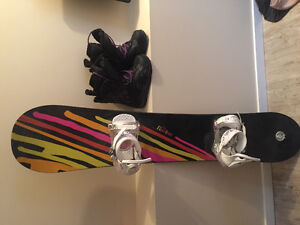 Women's Burton snowboard, boots and bindings for sale