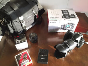 CANON EOS 60D 18-200mm f/3.5-5.6 IS + 50mm f/1.8 Lens!
