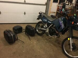 Hard side and top bag set for KLR 650