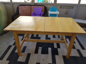 Kitchen table, chairs,