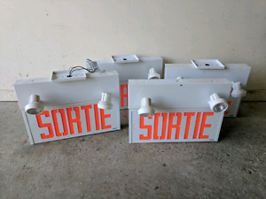 Sortie Exit Lights with Emergency Lights