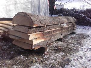 Slab de bois (scié sur plot)