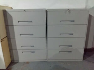 Coles 4 drawer lateral file cabinets. Pristine Condition