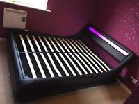 Kingsize led bed frame