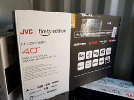 TV 40inch brand new jvc 4K ULTRA HD HDR BUILT IN ALEXA VOICE CONTROL