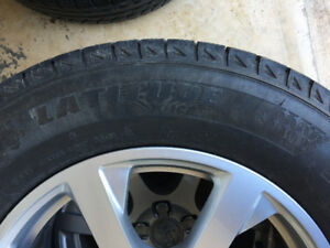Audi OEM 17 inch Winter Rims with Michelin Winter X2,