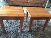 Pair of pine side tables ideal shabby chic style projects must go