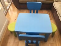 Ikea Children's Table inc. chairs & stools