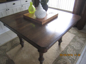 Antique 12 Seater Solid Oak Dining Table with English legs
