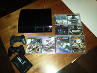 PS3 - PlayStation 3-Sony console+jeux+2 manettes