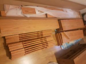 Hardwood stairs material