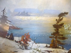 "Iconic Painting by Frank Panabaker ""Winter Storm"" 1957 Signed/Nu Stratford Kitchener Area image 7"