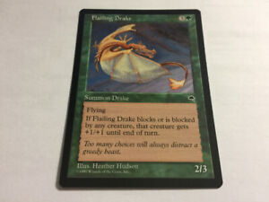 1997 FLAILING DRAKE Magic The Gathering Tempest UNPLYD NM -MT.