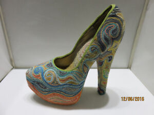One of A Kind Beaded Shoe
