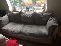 Ercol 3 seater sofa light wood