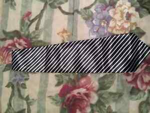 Black and White Stripe Tie $3