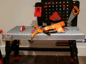 Toy Work Bench with Tools