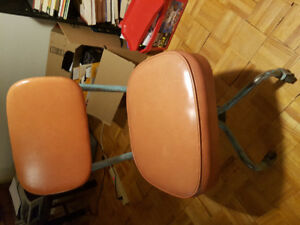 Vintage mid-century chrome swivel drafting chair