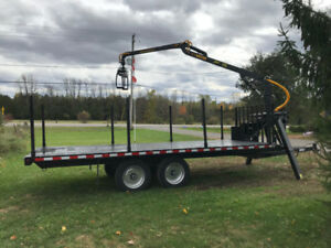 On-Road Forestry Trailer with Grapple Loader