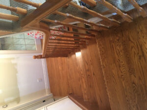 Oak stairs and rails and spindles