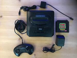 Sega Genesis With GAME GENIE.