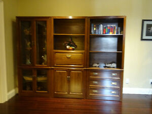 Bookcase and display cabinets