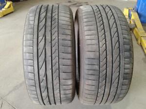 2x pneus ÉTÉ 245/40R19 usagés Bridgestone