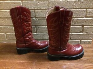 Red Leather Boots by John Fleuvog