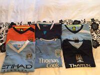 6 x Manchester City shirts XXL