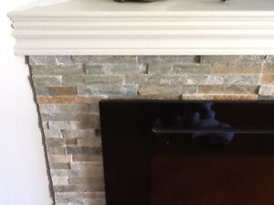 Box of stone tile  for wall or fireplace