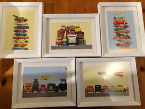 Car prints in frames