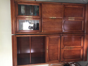 Solid wood cherry 2 piece unit