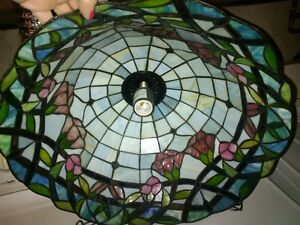 stained glass chandalier