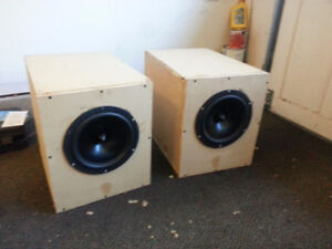"sealed 10"" woofers in home built box"