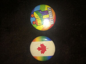 Gay pride pins