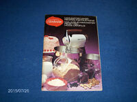 SUNBEAM MIXMASTER MIXER RECIPES INSTRUCTIONS-BOOKLET-1970/80S