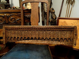 salvaged 18thC-19th TIBETAN DOOR TOPPER CASING intricate CHINESE