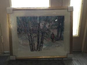 Peinture d'aquarelle de François roy