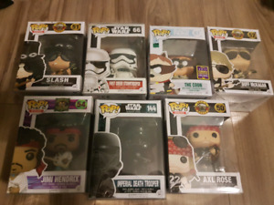 Funko pop lot star wars dc south park