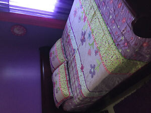 QUEEN SIZE GIRLS QUILT AND SHAMS