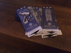 Real hard Toronto Maple Leafs tickets. Last pair of many!