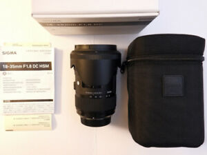 Sigma 18-35mm f/1.8 DC ART HSM Lens for Nikon