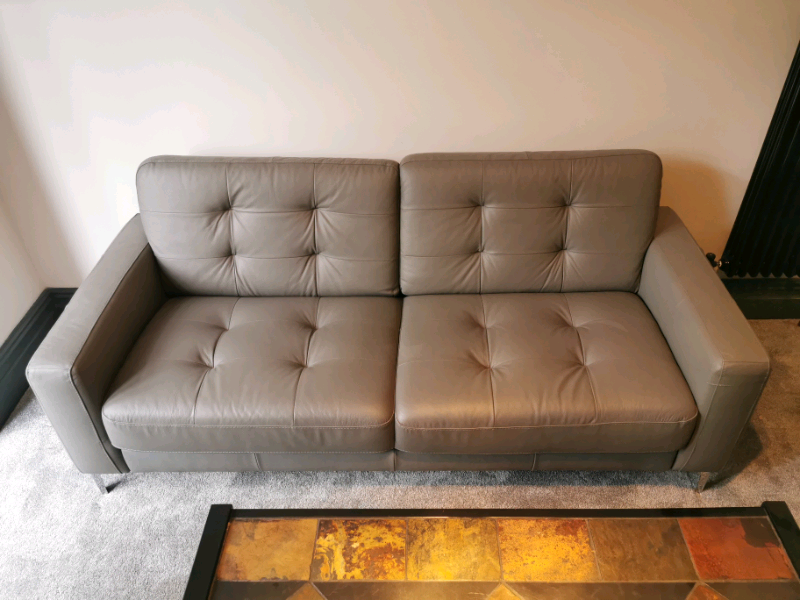 Strange 3 Seater Leather Sofa With Footstool In Swansea Gumtree Machost Co Dining Chair Design Ideas Machostcouk