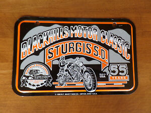Sturgis S.D. 55th Anniversary Motorcycle License Plate