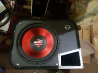 Legacy subwoofer box and alpine amp