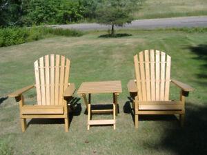 Wooden Folding Cedar Adirondack Lawnchairs