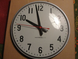 Industrial electric glass cover clock new in box $60.00