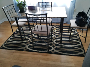 Dinette and rug
